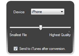iDevice, conversion quality, convert and sync with iTunes.